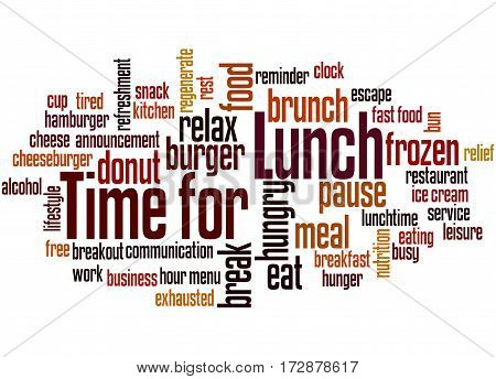 Time For Lunch, Word Cloud Concept 5