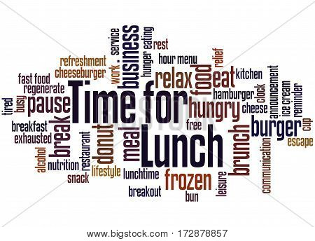 Time For Lunch, Word Cloud Concept 8