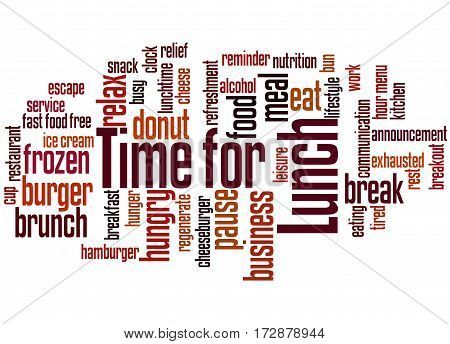 Time For Lunch, Word Cloud Concept 9