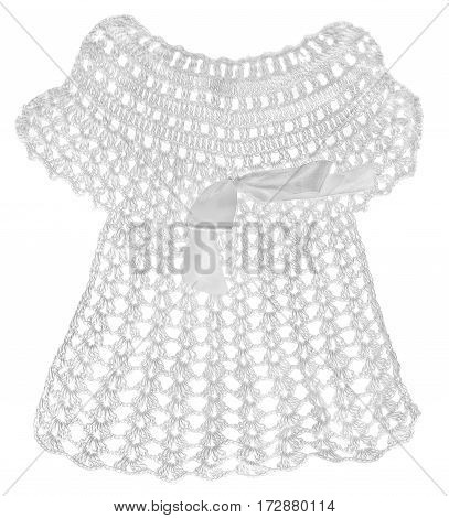 Lacy White Gown For A Child For Christening.