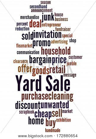 Yard Sale, Word Cloud Concept 2