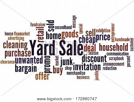 Yard Sale, Word Cloud Concept 3