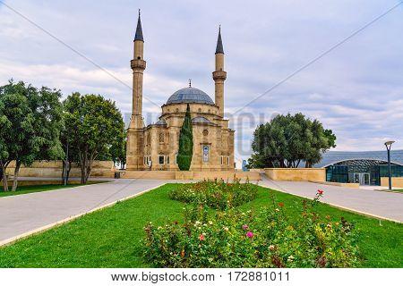 View of Mosque of the Martyrs. Baku Azerbaijan