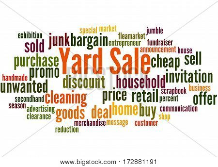 Yard Sale, Word Cloud Concept 6