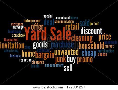 Yard Sale, Word Cloud Concept 7