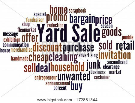 Yard Sale, Word Cloud Concept 8