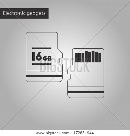 black and white style icon of micro SD
