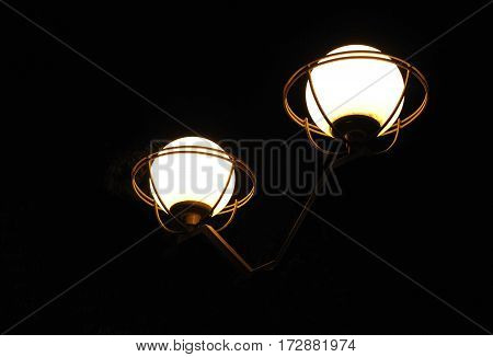 Street Light In Dark