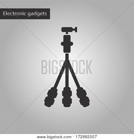 black and white style icon of tripod