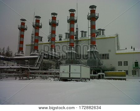 Russian Power Station in Siberia at an oilfield