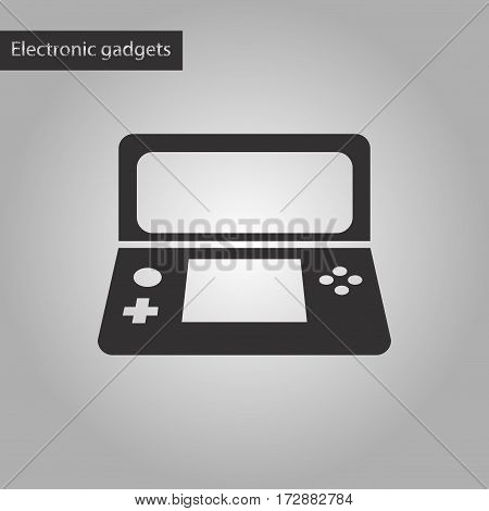 black and white style icon of game console