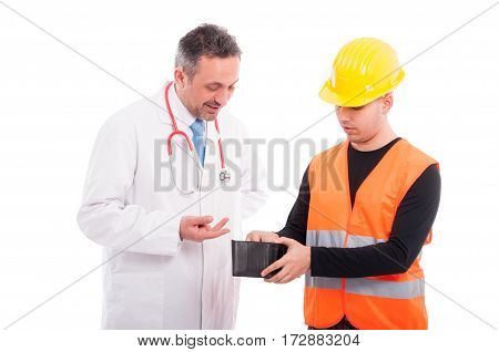 Constructor Paying The Doctor From His Wallet