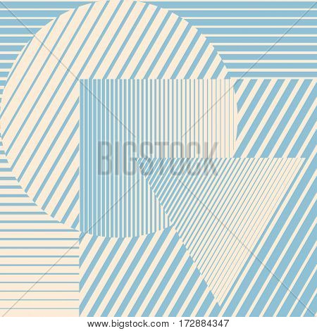 Blue color minimalistic design with geometric shapes forming abstract beautiful background. Perfect decoration for brochure, magazine, flyer, booklet or report