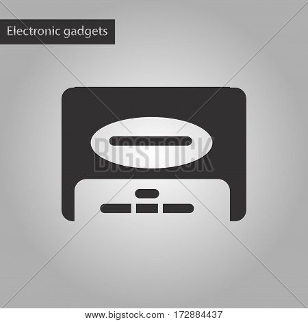 black and white style icon of removable hard drive