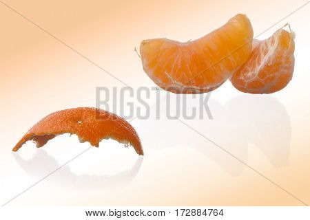 Orange, mandarin, tangerine citrus fruit ion abstract background