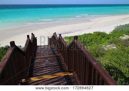 Steps leading into the Playa Cayo Santa Maria