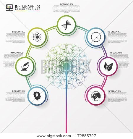 Ecology concept. Infographic modern design template. Vector illustration
