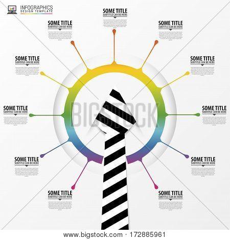 Modern business infographic concept. Businessman. Vector illustration
