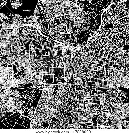 Santiago One Color Map