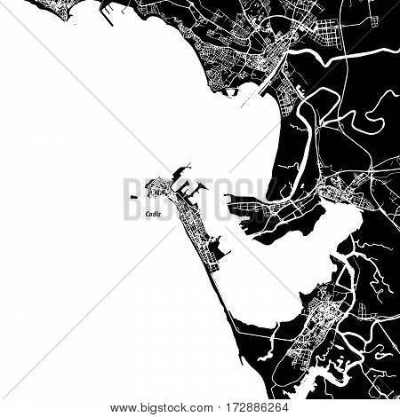 Cádiz Vector Map
