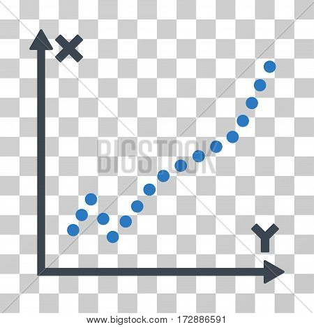 Function Plot vector icon. Illustration style is flat iconic bicolor smooth blue symbol on a transparent background.