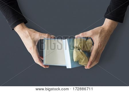 Studio Hands Shoot Holding Objects