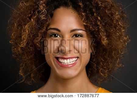Portrait of a beautiful African American woman smiling