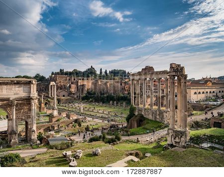 Forum Romanum Rome in old part Italy