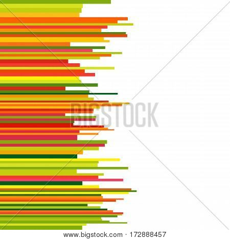 Abstract Background with Seamless Row Colorful Lines. Bright Striped Template for Text. Universal Abstraction.