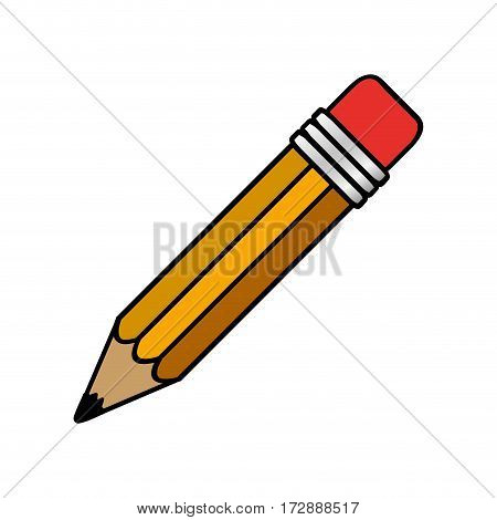colorful pencil icon stock, vector illustrtion design image