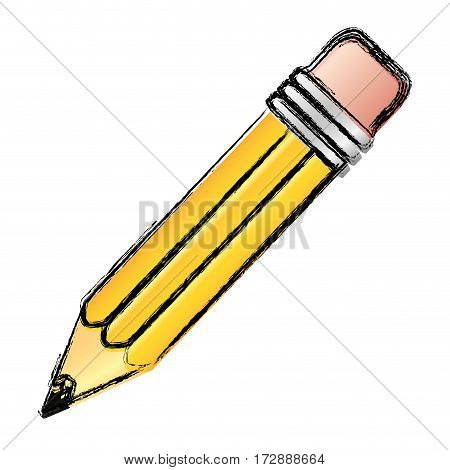 contour pencil icon stock, vector illustrtion design image
