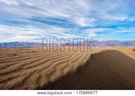 Death Valley National Park - Mesquite dunes. California, USA.
