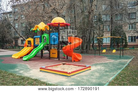 Playground for fun games and children's education