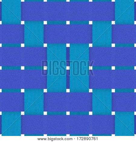 shades of blue fabric weave seamless background pattern
