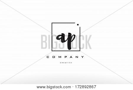 Ap A P Hand Writing Letter Company Logo Icon Design
