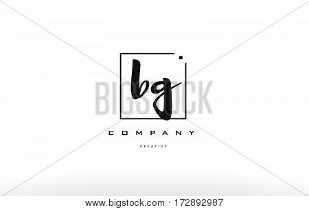 Bg B G Hand Writing Letter Company Logo Icon Design