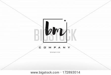 Bm B M Hand Writing Letter Company Logo Icon Design