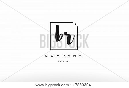 Br B R Hand Writing Letter Company Logo Icon Design