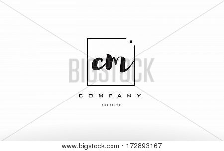 Cm C M Hand Writing Letter Company Logo Icon Design