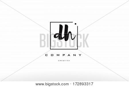 Dh D H Hand Writing Letter Company Logo Icon Design