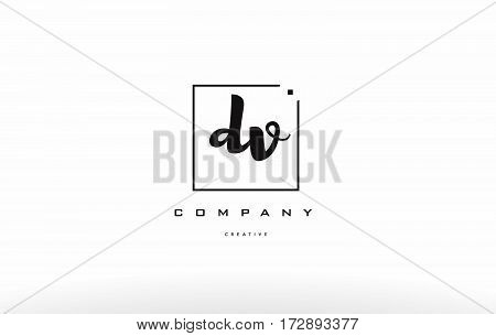 Dv D V Hand Writing Letter Company Logo Icon Design