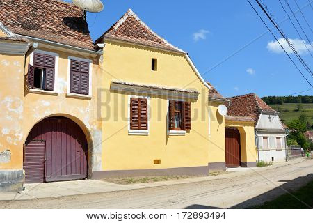 Typical house in the village Biertan, one of the most important Saxon villages with fortified churches in Transylvania, having been on the list of UNESCO World Heritage Sites since 1993