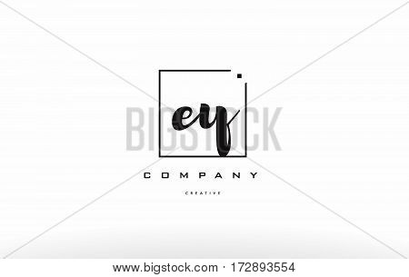 Ey E Y Hand Writing Letter Company Logo Icon Design