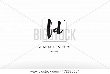 Fd F D Hand Writing Letter Company Logo Icon Design