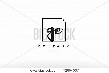 Ge G E Hand Writing Letter Company Logo Icon Design
