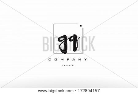 Gq G Q Hand Writing Letter Company Logo Icon Design