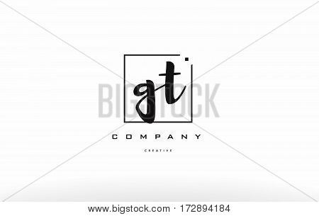 Gt G T Hand Writing Letter Company Logo Icon Design
