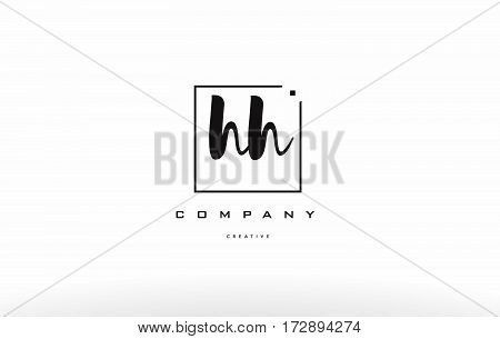 Hh H H Hand Writing Letter Company Logo Icon Design