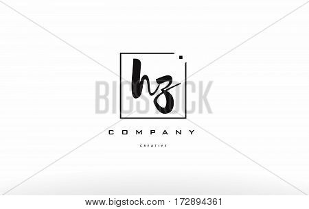 Hz H Z Hand Writing Letter Company Logo Icon Design