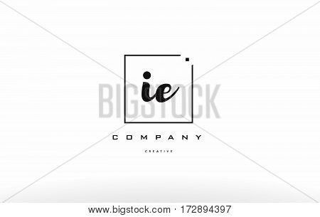 Ie I E Hand Writing Letter Company Logo Icon Design